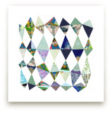 Blue Diamonds Art Print by Shelley Kommers
