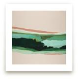 Mint Green Seascape by Caryn Owen