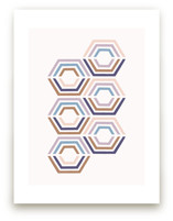 Divided Hexagons Art by Amber Barkley
