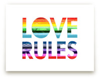 Love Rules Art Print by Shelley Kommers