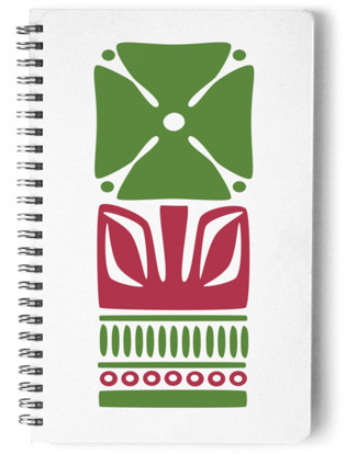 Nordic Green Flower Notebook Self-Launch Notebook
