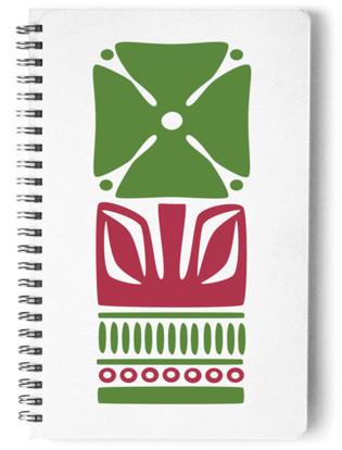Nordic Green Flower Notebook Self-Launch Notebook