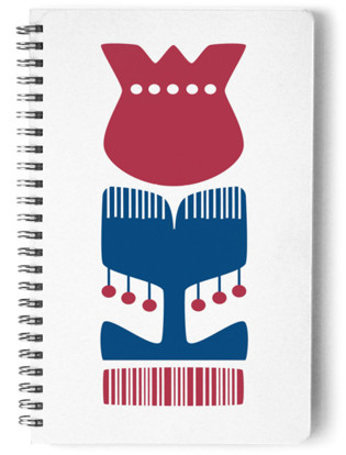 Nordic Red Flower Notebook Self-Launch Notebook