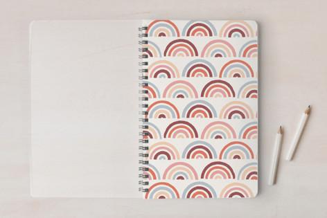 Stamped Rainbows Pattern Notebooks