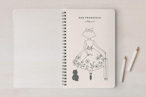 Little Ballerina In San Francisco Notebooks