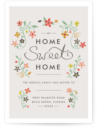 Sweet Homeness Moving Announcement Postcards