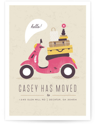 Mod Move Moving Announcement Postcards