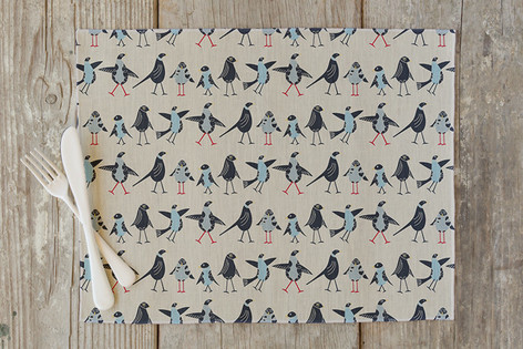 Bird Family Self Launch Placemats