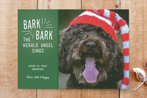 Bark the Herald Angel Sings Custom Stationery