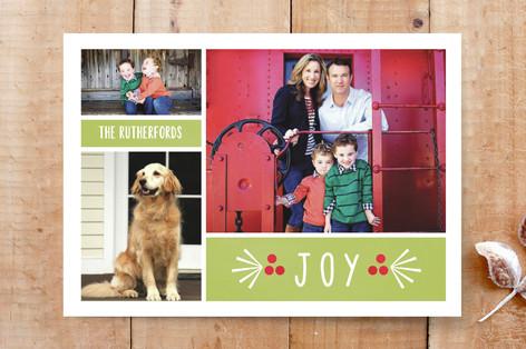 Berry Joyous Christmas Custom Stationery