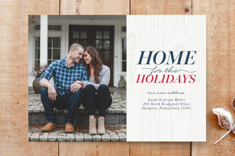 Home for the Holidays New Address Custom Stationery
