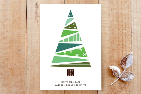 Stacked Triangles Christmas Tree Custom Stationery