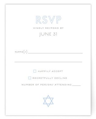 Called Mitzvah RSVP Cards