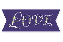 Floral L-O-V-E by Pace Creative Design Studio