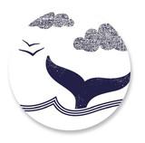 Whale Tail Round Sticke... by Oscar & Emma