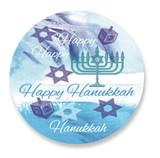 Happy Hanukkah Label