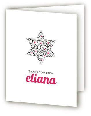 Mitzvah Star Mitzvah Thank You Cards