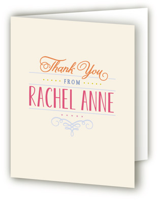 Bat Mitzvah Stack Mitzvah Thank You Cards