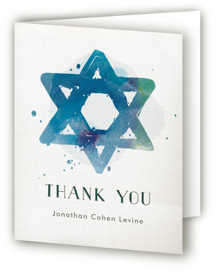 Painted Mitzvah Thank You Cards