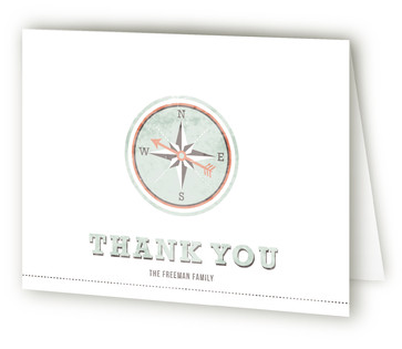 Compass to Home Moving Announcements Thank You Cards