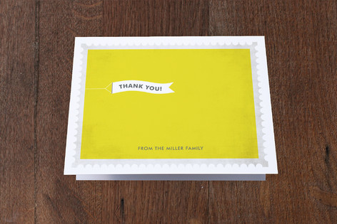 Sky Banner Moving Announcements Thank You Cards