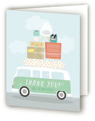 Moving Van Moving Announcements Thank You Cards