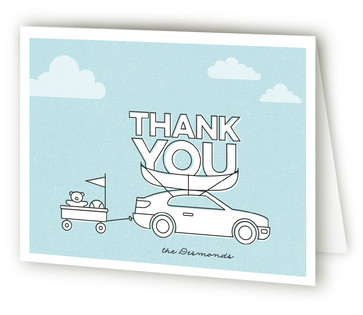 Long Haul Moving Announcements Thank You Cards