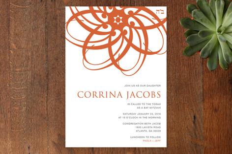 Orange Blossom Mitzvah Invitations
