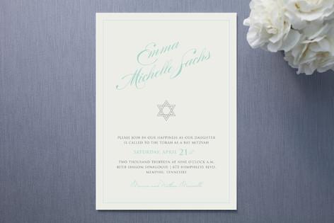 Blue Ribbon Mitzvah Invitations