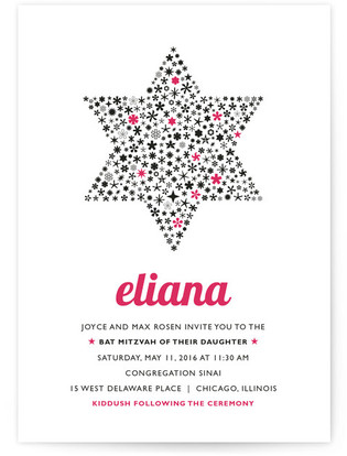 Mitzvah Star Mitzvah Invitations