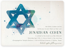 Painted Mitzvah Invitations