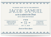 Sharp Mitzvah Invitations