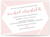 Geometric Dots Mitzvah Invitations