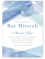 watercolor stripes Mitzvah Invitations