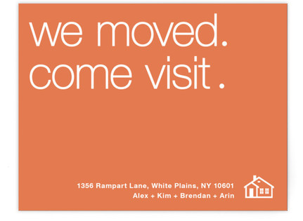 We've Moved. Come Visit. Moving Announcements