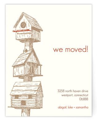 Birdhouses Moving Announcements