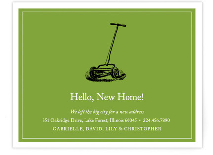 Hello, New Home! Moving Announcements