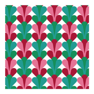 Mod Tulips Self-Launch Wrapping Paper
