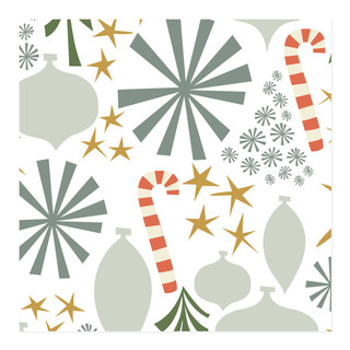 retro christmas - ice Self-Launch Wrapping Paper