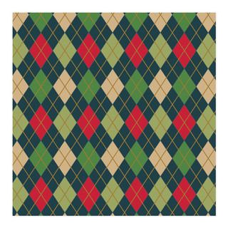 Argyle Diamond Self-Launch Wrapping Paper