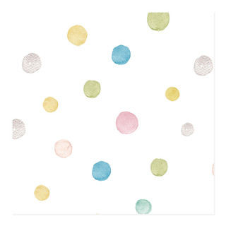 Happy Watercolor Dots Self-Launch Wrapping Paper