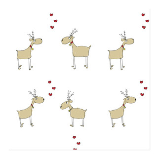 Rein-dears Self-Launch Wrapping Paper