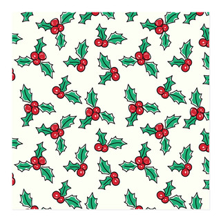 Holly Jolly Christmas Wrap Self-Launch Wrapping Paper
