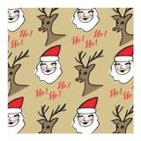 Santa and Rudolph by Lisa Travis