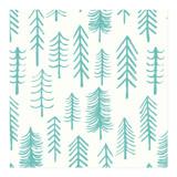 Hand-drawn Pines by Charla Pettingill