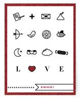 modern love icons Women's Flat Stationery