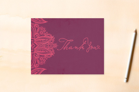 Henna Inspired Thank You Cards Women's Flat Stationery