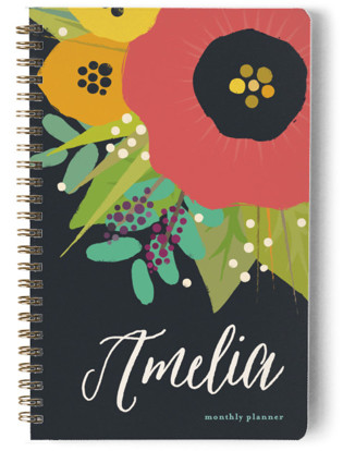 Bold Floral Day Planner, Notebook, or Address Book
