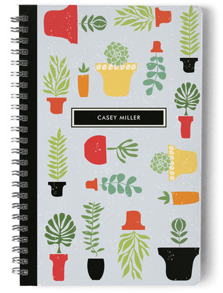 Potted Garden Day Planner, Notebook, or Address Book
