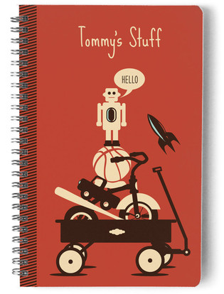 Retro Toys Day Planner, Notebook, or Address Book